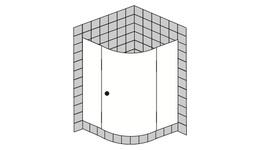 Viertelkreis - Duschen