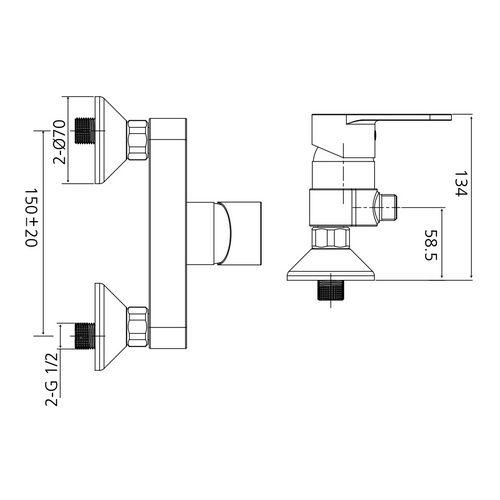 AqvaZone AQVABASIC I Brause-Einhebelmischer chrom 002551150 3