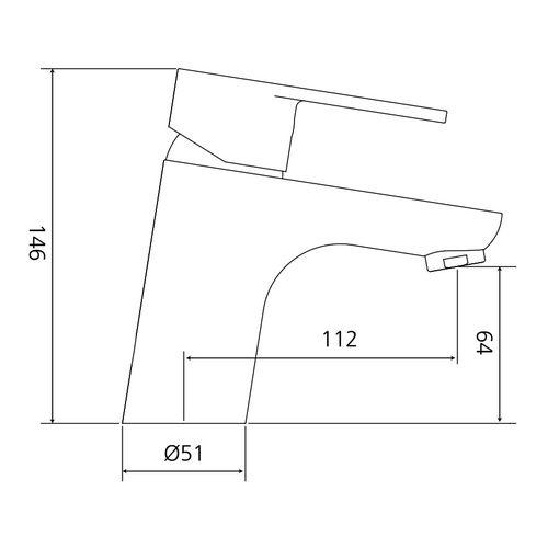 AqvaZone AQVABASIC I Waschtisch-Einhebelmischer mit Zugstange, Ausladung: 11,2 cm, Chrom 3