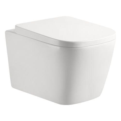 AqvaCeramica Wandhängendes Tiefspül-WC Soft-Edge (spülrandlos)