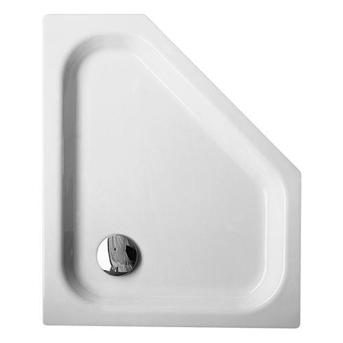 Caro 5-Eck-Duschwanne Caro 75 x 90 x 3,5 cm weiß