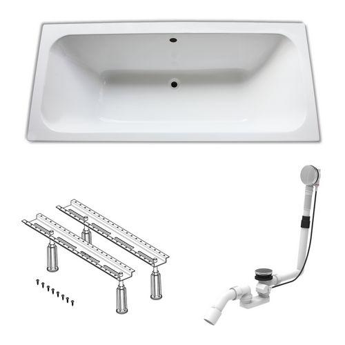Acryl-Badewanne 180 × 80 cm, made by Ideal Standard inklusive Wannenfüße und Ablaufgarnitur 0