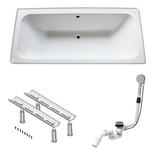 Acryl-Badewanne 180 × 80 cm, made by Ideal Standard inklusive Wannenfüße und Ablaufgarnitur