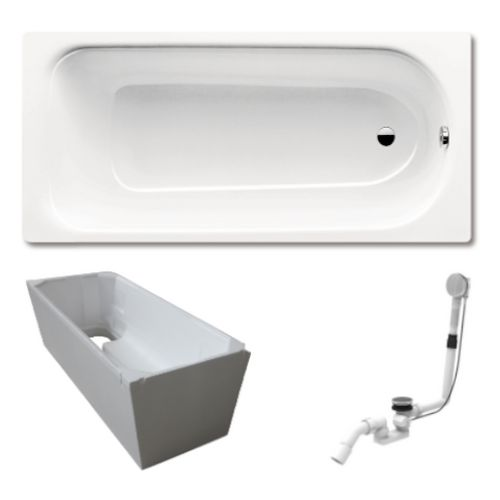 Stahl-Badewanne SANIFORM PLUS 362-1 160 x 70 x 41 cm alpin weiß Set