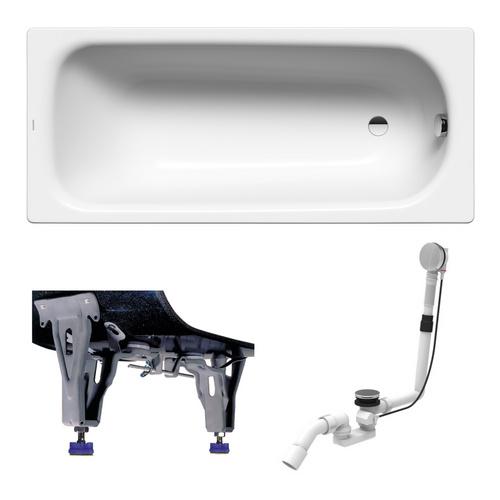 Stahl-Badewanne SANIFORM PLUS Modell 373-1 Set 170 x 75 x 41 cm alpin weiß