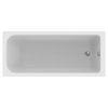 Design in Bad Acryl Körperform-Badewanne made by Ideal Standard 170 × 75 cm mit Träger und Ablaufgarnitur 1