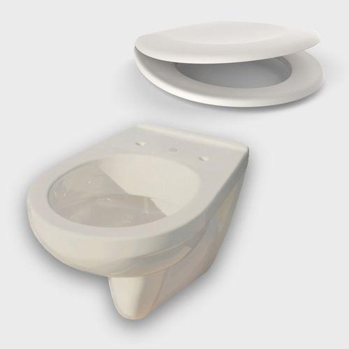 Gustavsberg Tiefspül-WC Saval 2.0 & Sanit WC-Sitz 1501 streamline, pergamon