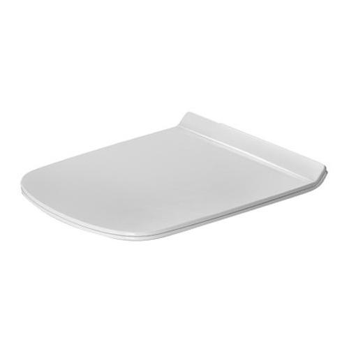 DuraStyle WC-Sitz weiß Scharniere Edelstahl, lang, 006051