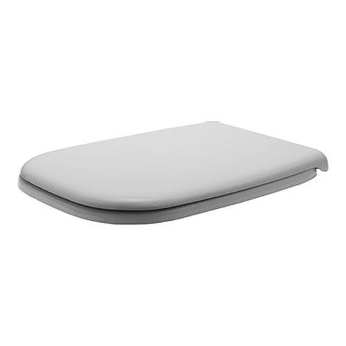 D-Code WC - Sitz mit Deckel weiß, Scharniere Edelstahl