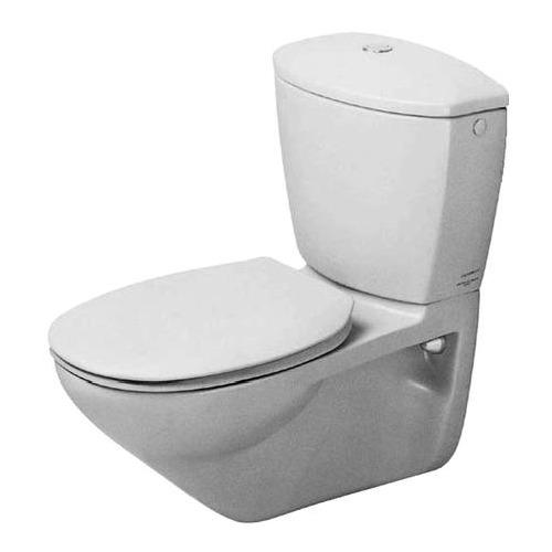 Duravit Duraplus Practica Cascade Wand-WC weiß 65,0 cm für Kombination mit Spülkasten