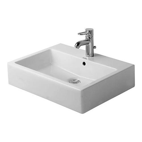 Vero Aufsatzbecken 60 cm geschliffen weiß für Einlocharmatur 045260