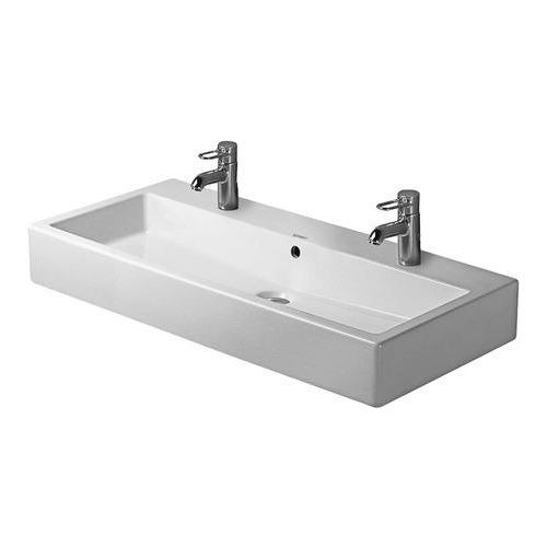 Duravit Duravit Vero Waschtisch 100 cm mit 2 Hahnlöchern weiß 045410 ...