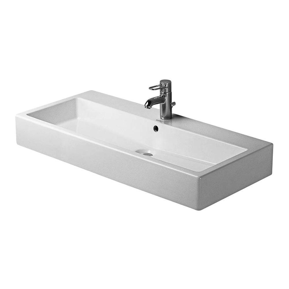 duravit duravit vero waschtisch 100 cm f r 3 locharmatur wei 045410 design in bad. Black Bedroom Furniture Sets. Home Design Ideas