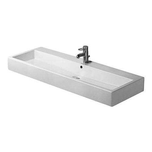 Vero Waschtisch 120 cm mit Überlauf für Einlocharmatur weiß 045412