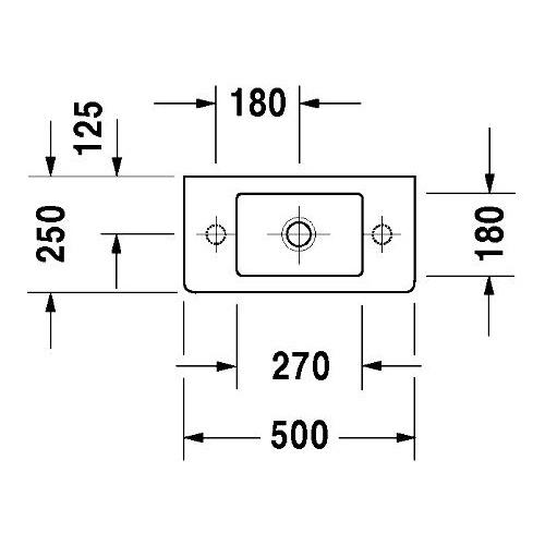 duravit duravit vero handwaschbecken 50 cm wei hahnloch links 070350 design in bad. Black Bedroom Furniture Sets. Home Design Ideas