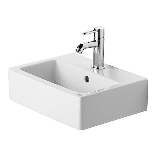 Duravit Vero Handwaschbecken 45 cm geschliffen weiß, mit Hahnloch
