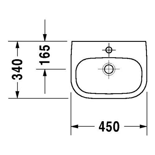 duravit duravit d code handwaschbecken 450mm 070545. Black Bedroom Furniture Sets. Home Design Ideas