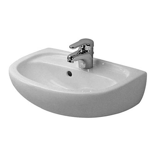 Duraplus Handwaschbecken ohne Hahnl. Compact pergamon 45x31 cm 079745