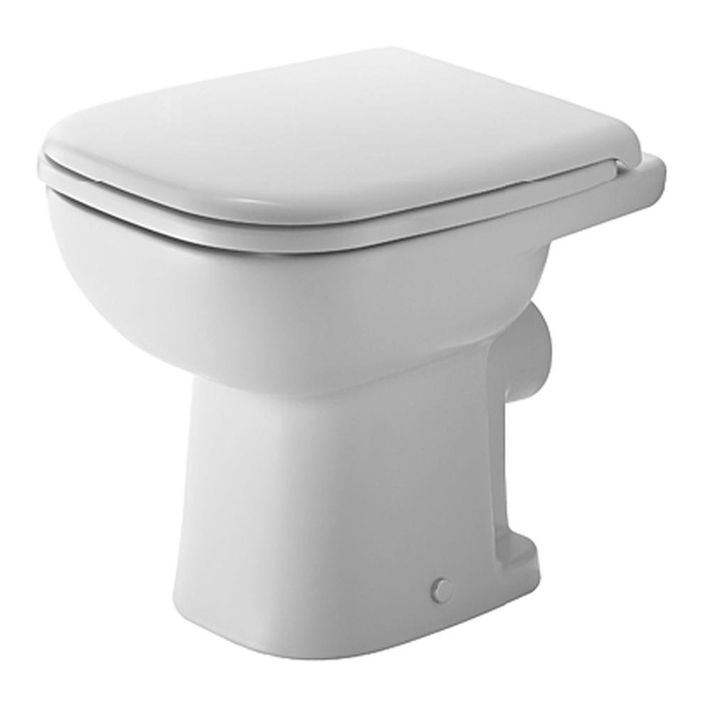 Duravit duravit d code stand wc compact 480 mm tiefsp ler for Bad wc design