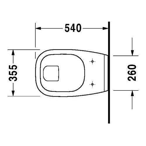 duravit duravit d code wand wc 545 mm flachsp ler geschl sp lrand 221009 design in bad. Black Bedroom Furniture Sets. Home Design Ideas