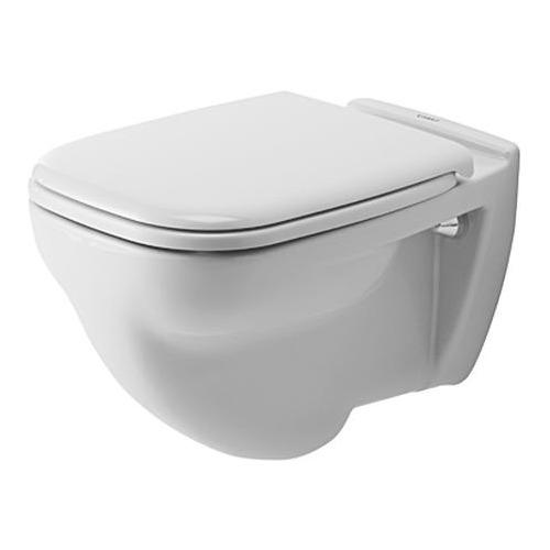 D-Code Wand-WC Flachspüler, geschlossener Spülrand 35,5 x 54 cm