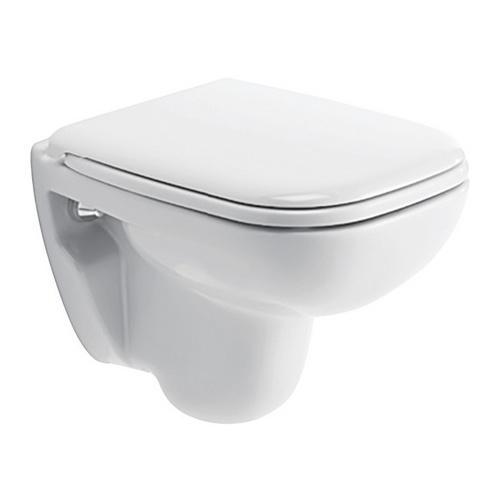 D-Code Wand-WC Compact ohne WC Sitz 48 x 35 cm, kurze Ausladung, weiß