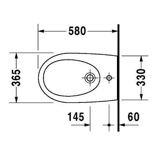 Duravit Architec Wand-Bidet 570 mm 251150 1