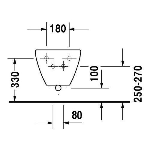 Duravit Duraplus Colomba Wand-Bidet pergamon 575 mm 253210 1