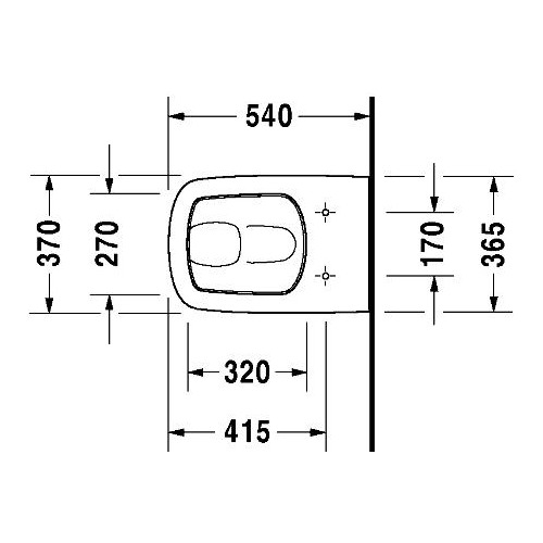 duravit duravit durastyle wand wc flachsp ler 540 mm geschl sp lrand 254009 design in bad. Black Bedroom Furniture Sets. Home Design Ideas