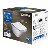 DURAVIT Wand-WC DuraStyle, rimless, Set mit WC-Sitz softclosing