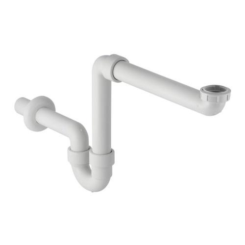 Raumsparsiphon Abgang Ø 40 mm für Waschtisch- oder Spülenunterbauten, weiß
