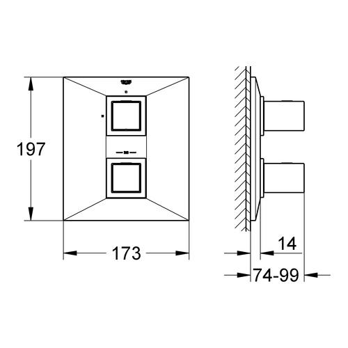 grohe unterputz thermostat brausebatterie allure brilliant. Black Bedroom Furniture Sets. Home Design Ideas