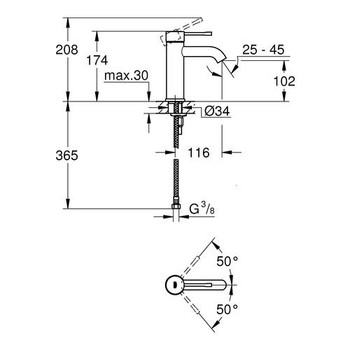 GROHE Einhand-Waschtischbatterie Essence - Design in Bad