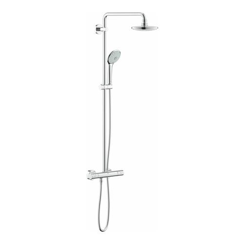 grohe duschsystem euphoria aufputz thermostat 450 mm 27296 design in bad. Black Bedroom Furniture Sets. Home Design Ideas