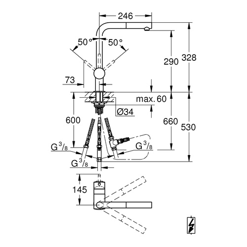 grohe minta einhand sp ltischbatterie chrom 31397 design. Black Bedroom Furniture Sets. Home Design Ideas