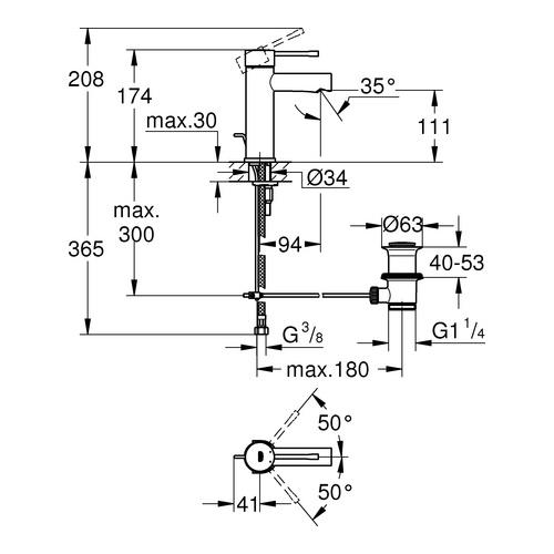 Grohe Essence Einhand-Waschtisch-Batterie 28mm 328980 - Design in Bad
