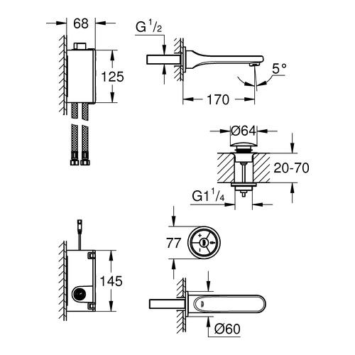 grohe veris f digital waschtischbatterie 36278 design in bad. Black Bedroom Furniture Sets. Home Design Ideas