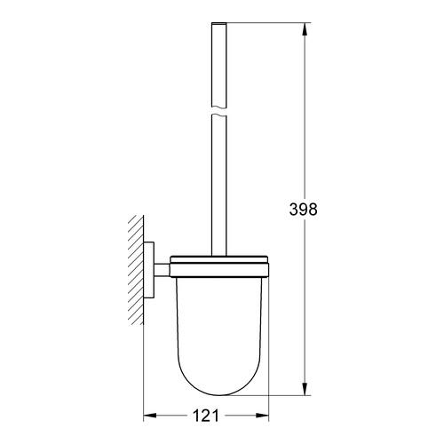 Grohe Essentials Toilettenbürstengarnitur 1