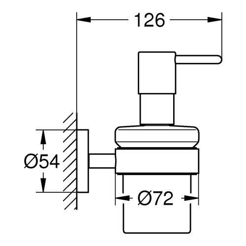 grohe seifenspender mit halter design in bad. Black Bedroom Furniture Sets. Home Design Ideas