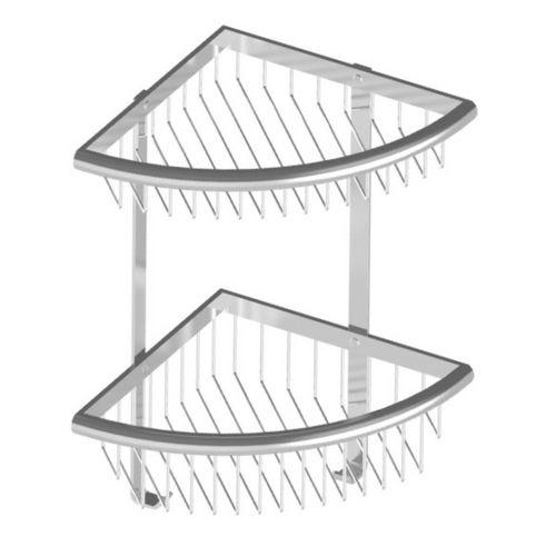 Premium Duschkorb Eckmodell 2-teilig