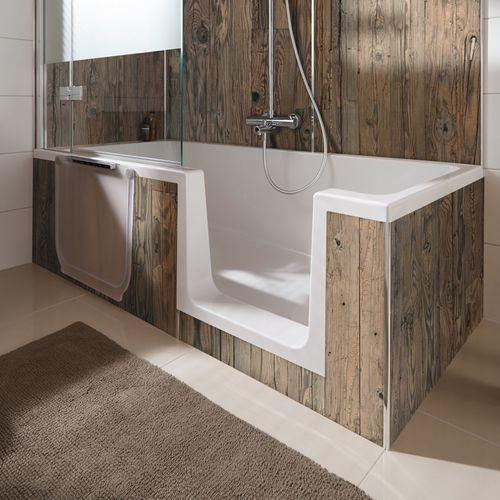 Duschwanne Dobla, begehbare Badewanne mit zuverlässiger Dichtigkeit, Einstieg rechts