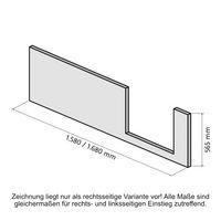 Frontschürze für Dobla 170 x 75, Einstieg links