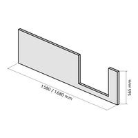 Frontschürze für Dobla 170 x 75, Einstieg rechts