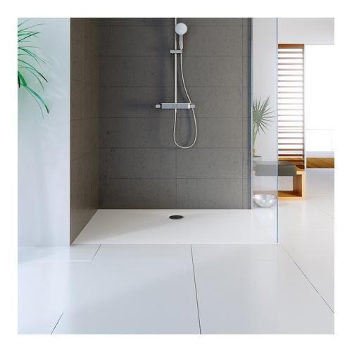 marmor polymer duschwanne plan 80 x 100 cm rechteck 04 wei design in bad. Black Bedroom Furniture Sets. Home Design Ideas