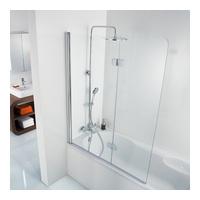 Premium Softcube Glas - Badewannenaufsatz mit 2 beweglichen Elementen 100 x 140 cm