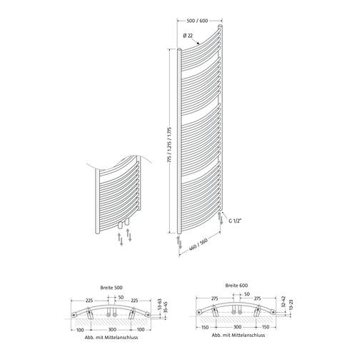 badheizk rper line round 500 x 1775 mm 04 wei design in bad. Black Bedroom Furniture Sets. Home Design Ideas