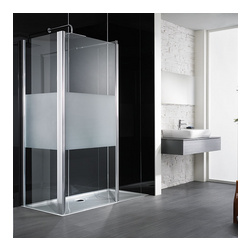Renovetro Designplatte mit glasähnlicher Optik für dekorative Highlights in Ihrem Bad 100 x 255 cm