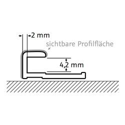 Abschlussprofil, gerade Alu silbermatt oder chrom-optik für Wandverkleidungssysteme RenoDeco und RenoVetro
