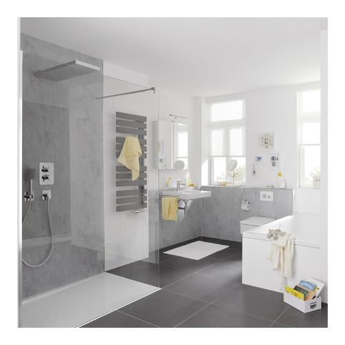 renodeco wandverkleidung aluminium verbundplatte mit strukturpr gung 100 x 255 cm design in bad. Black Bedroom Furniture Sets. Home Design Ideas