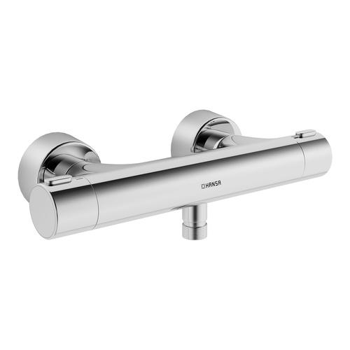 HANSAPRISMA Brause-Thermostat-Batterie Wandaufbau, S-Anschlüsse